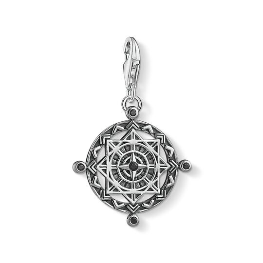 Charm pendant disc Vintage compass from the Charm Club collection in the THOMAS SABO online store
