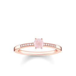 "ring ""pink stone"" from the Glam & Soul collection in the THOMAS SABO online store"