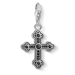 """Charm pendant """"black cross"""" from the  collection in the THOMAS SABO online store"""