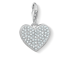 Charm pendant heart pavé from the Charm Club Collection collection in the THOMAS SABO online store