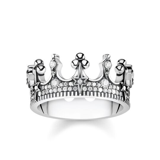 """ring """"crown silver"""" from the Glam & Soul collection in the THOMAS SABO online store"""