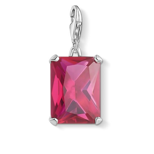 charm pendant large hot pink stone from the  collection in the THOMAS SABO online store