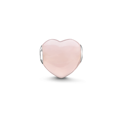 Bead pink heart from the Karma Beads collection in the THOMAS SABO online store