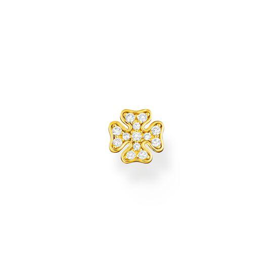 Clou d'oreille unique trèfle or de la collection Charming Collection dans la boutique en ligne de THOMAS SABO