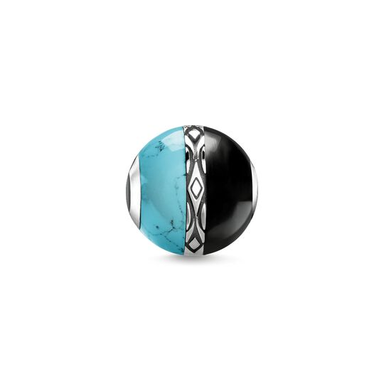 Bead ornament turquoise & black from the Karma Beads collection in the THOMAS SABO online store