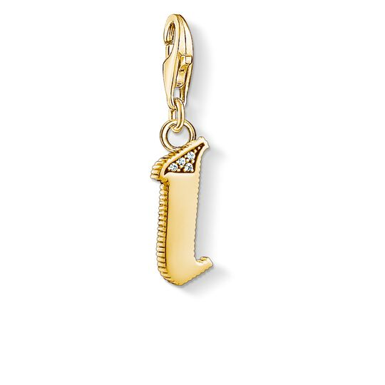 Charm pendant letter I gold from the Charm Club collection in the THOMAS SABO online store