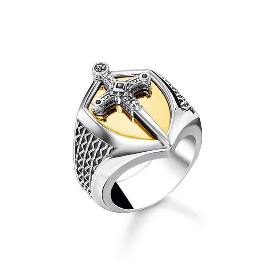 Ring Schwert gold aus der  Kollektion im Online Shop von THOMAS SABO