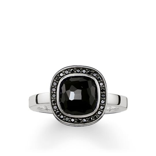"solitaire ring ""black Cosmo"" from the Glam & Soul collection in the THOMAS SABO online store"