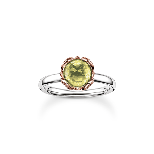 solitair ring green Lotos Blossom from the Glam & Soul collection in the THOMAS SABO online store