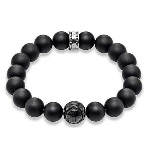 "bracelet ""obsidian"" from the Rebel at heart collection in the THOMAS SABO online store"