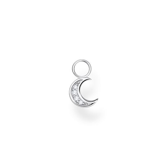 Single ear pendant moon silver from the Charming Collection collection in the THOMAS SABO online store