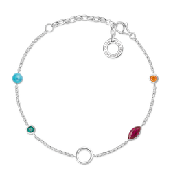 "Charm bracelet ""Colourful Stones"" from the  collection in the THOMAS SABO online store"