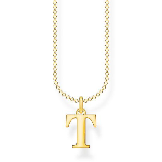 Kette Buchstabe T gold aus der Charming Collection Kollektion im Online Shop von THOMAS SABO