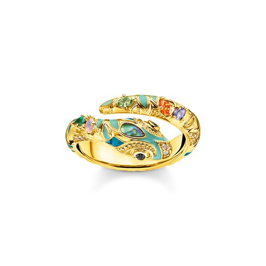 ring bright golden-coloured snake from the  collection in the THOMAS SABO online store