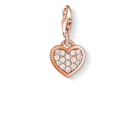 Charm pendant glitter heart from the  collection in the THOMAS SABO online store