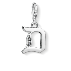 Charm pendant letter D silver from the  collection in the THOMAS SABO online store