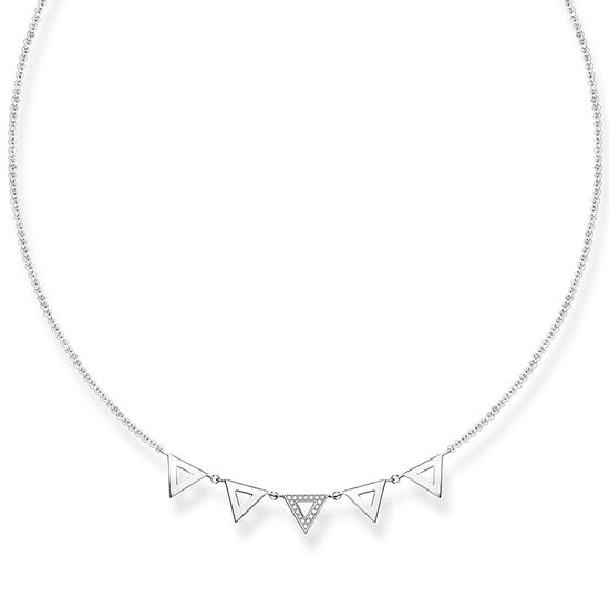 TS 5 Triangle Silver Necklace