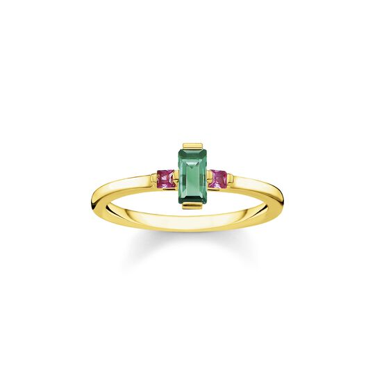 Ring stone baguette cut, green from the  collection in the THOMAS SABO online store