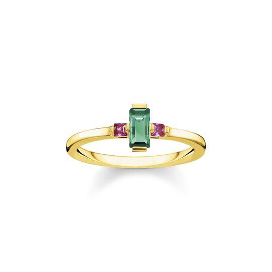 Bague pierre taille baguette vert de la collection  dans la boutique en ligne de THOMAS SABO