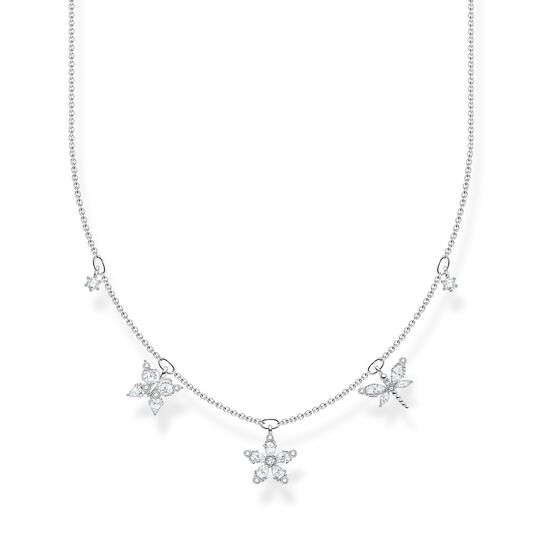 Necklace flowers white stones from the Charming Collection collection in the THOMAS SABO online store