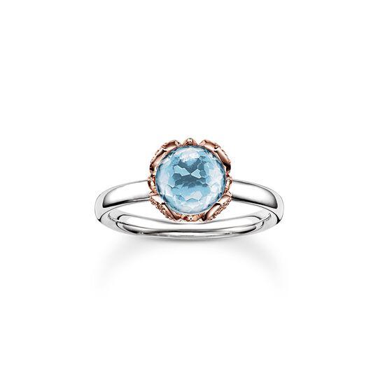 """solitario """"flor de loto azul"""" de la colección Glam & Soul en la tienda online de THOMAS SABO"""