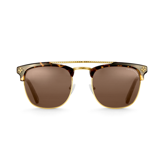 Sonnenbrille James Trapez Kreuz Havanna aus der  Kollektion im Online Shop von THOMAS SABO