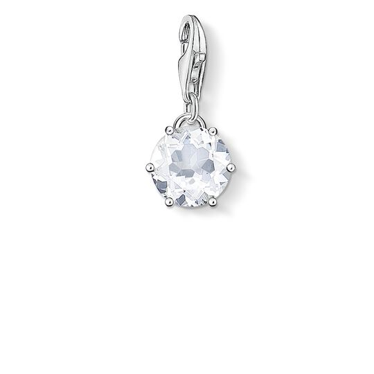 Charm pendant birth stone April from the  collection in the THOMAS SABO online store