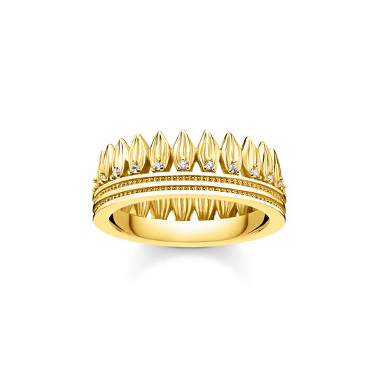 ring leaves crown gold from the  collection in the THOMAS SABO online store