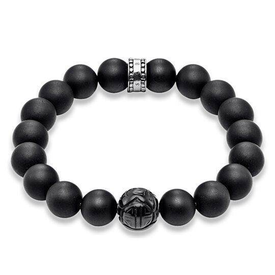 "bracciale ""ossidiana"" from the Rebel at heart collection in the THOMAS SABO online store"