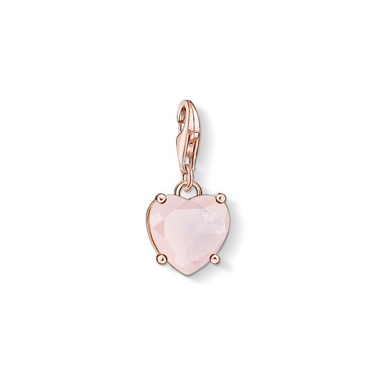 Charm pendant Heart with hot pink stone from the Charm Club collection in the THOMAS SABO online store