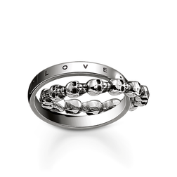 "ring ""skull love, faith, hope"" from the Rebel at heart collection in the THOMAS SABO online store"