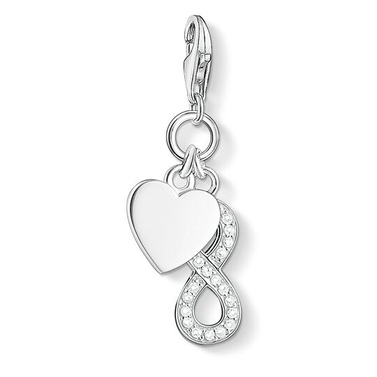 Charm pendant heart with infinity from the  collection in the THOMAS SABO online store