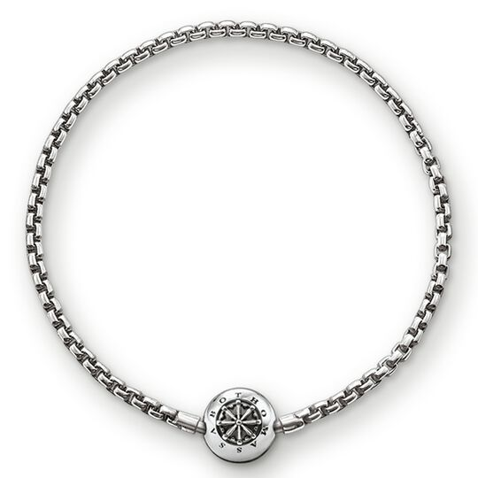"bracelet for beads ""blackened"" from the Karma Beads collection in the THOMAS SABO online store"