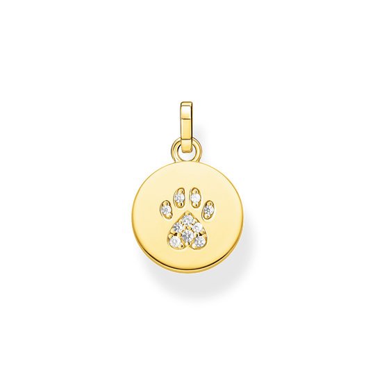 pendant disc paw cat gold from the Glam & Soul collection in the THOMAS SABO online store
