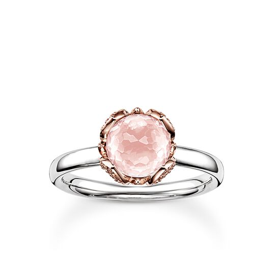 """solitaire ring """"pink lotus flower"""" from the Glam & Soul collection in the THOMAS SABO online store"""