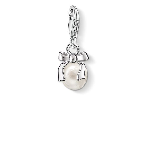 "Charm pendant ""bow with pearl"" from the  collection in the THOMAS SABO online store"