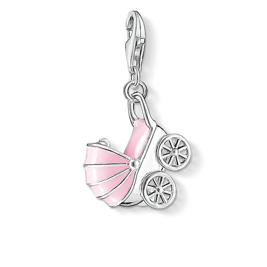 "Charm pendant ""pink pram"" from the  collection in the THOMAS SABO online store"