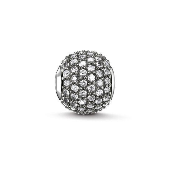 "Bead ""icy diamond pavé"" from the Karma Beads collection in the THOMAS SABO online store"