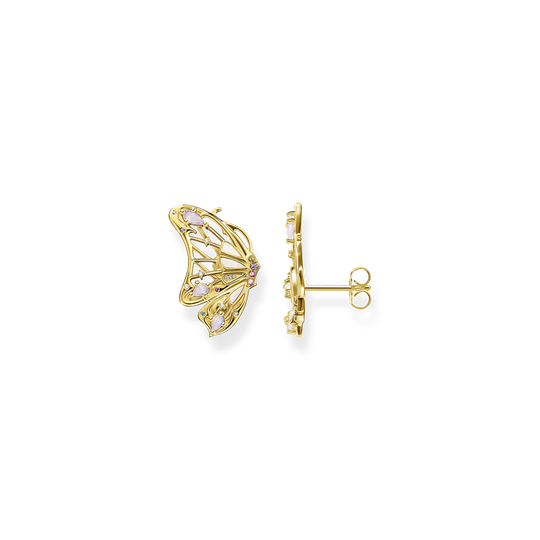 Ear studs butterfly gold from the Glam & Soul collection in the THOMAS SABO online store
