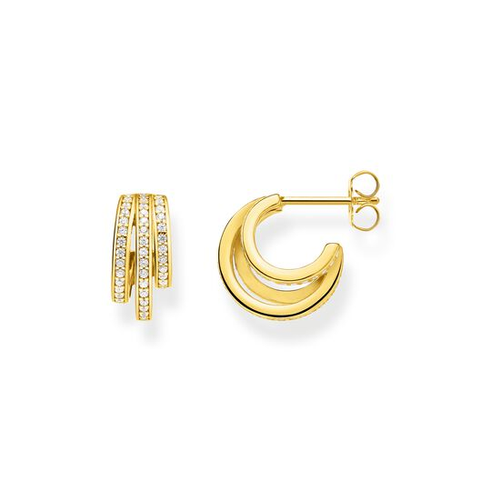 hoop earrings gold rings from the  collection in the THOMAS SABO online store