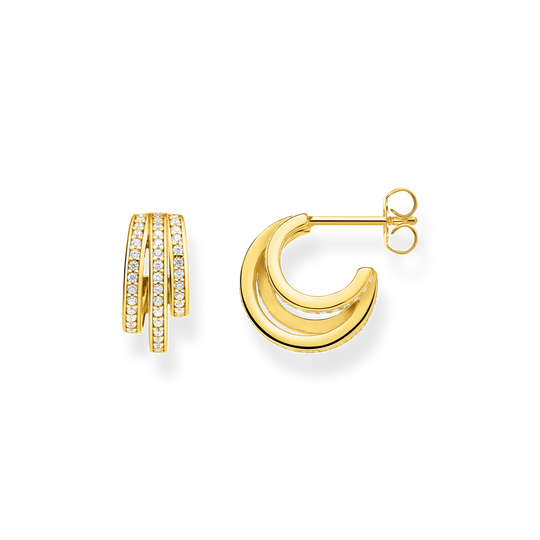 hoop earrings gold rings from the Glam & Soul collection in the THOMAS SABO online store
