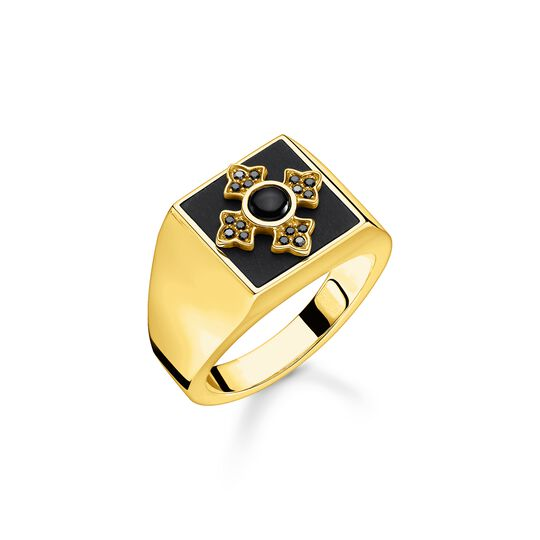 Ring Royalty cross gold from the  collection in the THOMAS SABO online store
