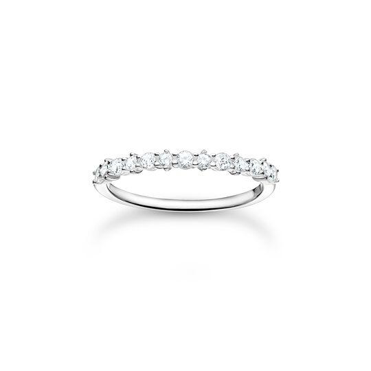 Ring weiße Steine silber aus der Charming Collection Kollektion im Online Shop von THOMAS SABO