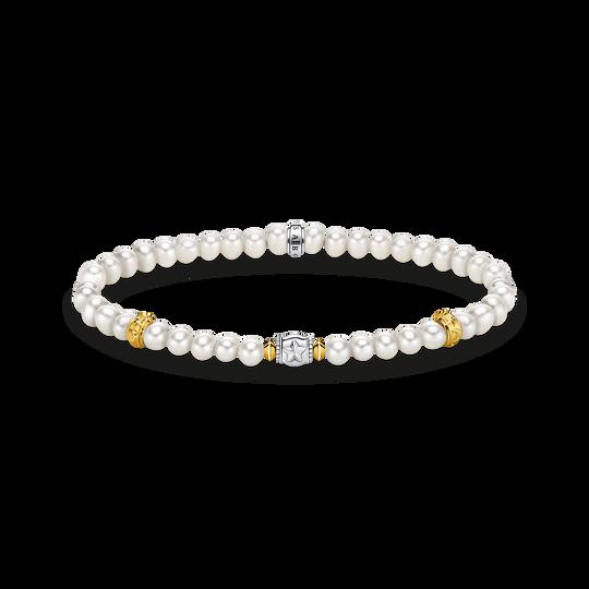 Armband beige Perlen mit Halbmond silber aus der Glam & Soul Kollektion im Online Shop von THOMAS SABO