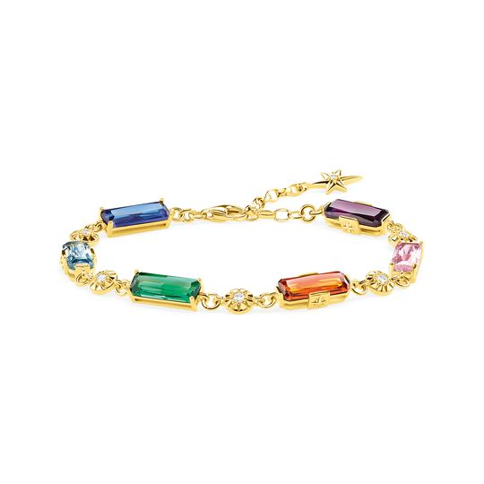 Bracelet colourful stones with golden stars from the  collection in the THOMAS SABO online store