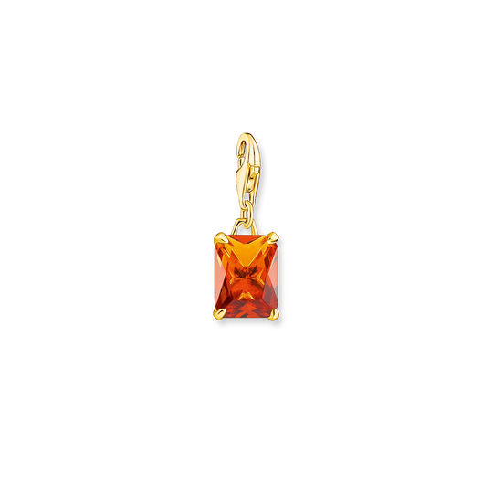 Charm pendant large orange stone from the Glam & Soul collection in the THOMAS SABO online store