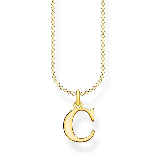 Kette Buchstabe C gold aus der Charming Collection Kollektion im Online Shop von THOMAS SABO