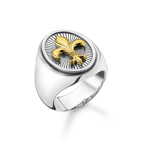 Ring fleur-de-lis gold from the Rebel at heart collection in the THOMAS SABO online store