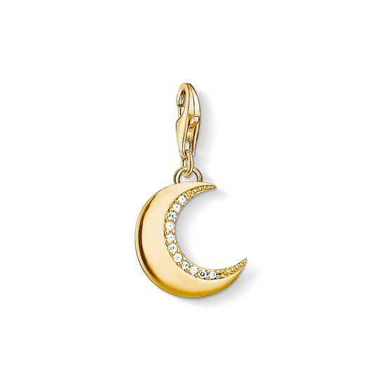 Charm pendant moon gold from the Charm Club collection in the THOMAS SABO online store