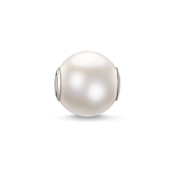 Bead perle blanche, grande de la collection Karma Beads dans la boutique en ligne de THOMAS SABO